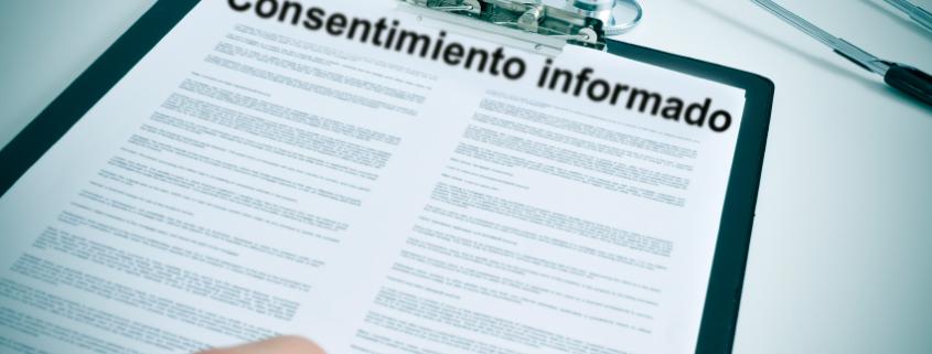 Consentimiento informado. Investigación clínica de producto sanitario